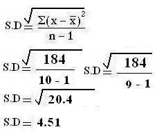 sd calculation